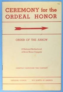 Ceremony for The Ordeal Honor Pamphlet
