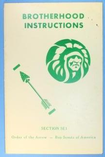 Brotherhood Instructions Booklet Section SE1