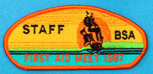 First Aid Meet 1987 Staff Patch