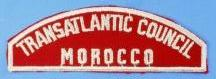 Transatlantic Council/Morocco Red and White Council Strip