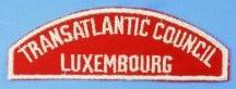 Transatlantic Council/Luxembourg Red and White Council Strip