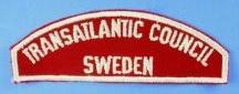 Transatlantic Council/Sweden Red and White Council Strip