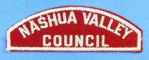 Nashua Valley Council Red and White Council Srip