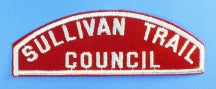 Sullivan Trail Council Red and White Council Strip