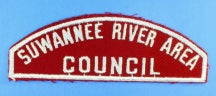 Suwannee River Council Red and White Council Strip