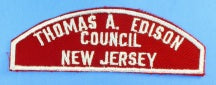 Thomas A. Edison Council Red and White Council Strip