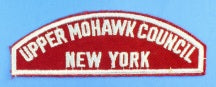 Upper Mohawk Council Red and White Council Strip