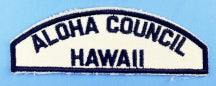Aloha Council/Hawaii White and Blue Council Strip