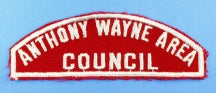 Anthony Wayne Area Council Red and White Council Strip