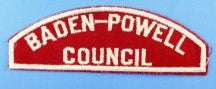 Baden-Powell Council Red and White Council Strip