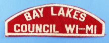 Bay Lakes Council Red and White Council Strip