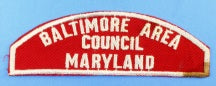 Baltimore Area Council Red and White Council Strip