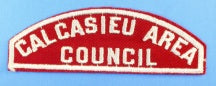 Calcasieu Area Council Red and White Council Strip