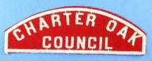 Charter Oak Council Red and White Council Strip