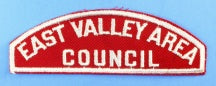 East Valley Area Council Red and White Council Strip