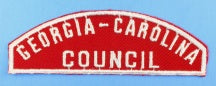 Georgia-Carolina Council Red and White Council Strip