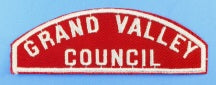 Grand Valley Council Red and White Council Strip