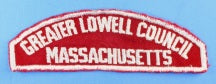 Greater Lowell Council Red and White Council Strip