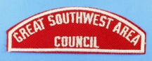 Great Southwest Area Council Red and White Council Strip