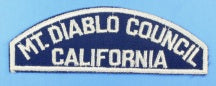 Mt. Diablo Council Bllue and White Council Strip