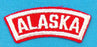 Alaska Red and White State Strip
