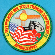 1997 Philmont Training Center Advancement Patch