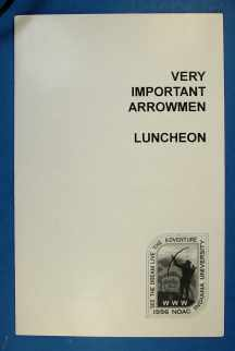 Invitation to Luncheon 1996 NOAC