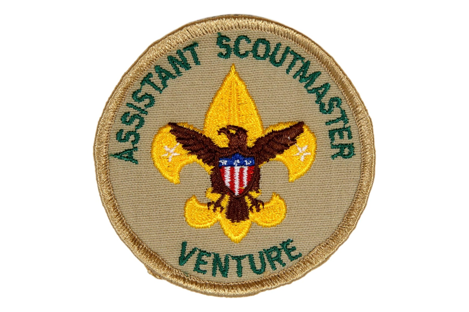 Assistant Scoutmaster Patch Tan Venture