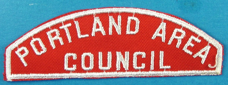 Portland Area Council Red and White Council Strip