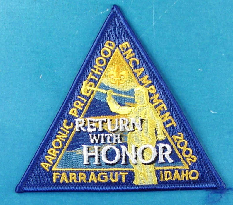 2002 LDS Encampment Patch Return with Honor