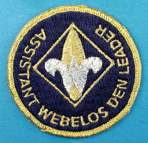 Assistant Webelos Den Leader Patch Gold Mylar Border