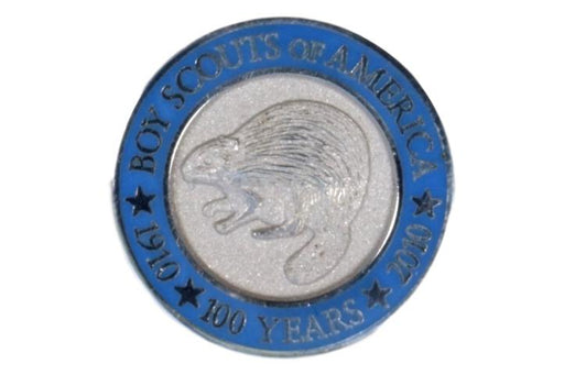 Silver Beaver Lapel Pin 100 Year Anniversary of BSA