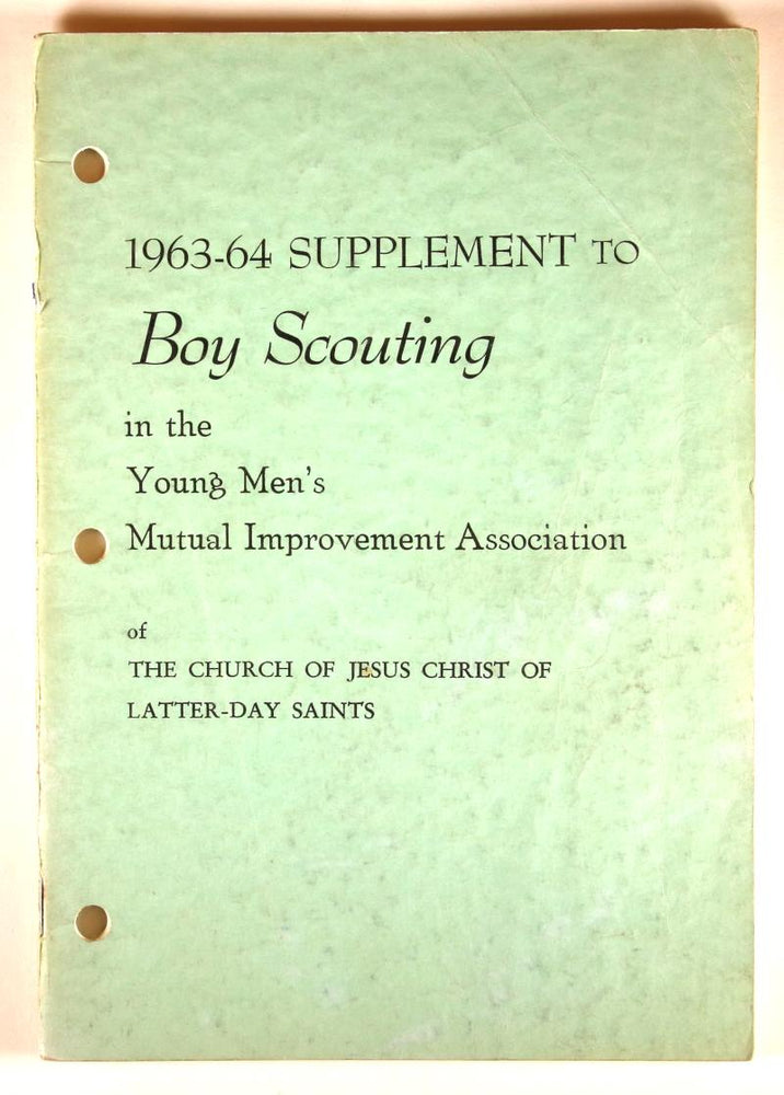 1963-64 Suppplement to Boy Scouting LDS
