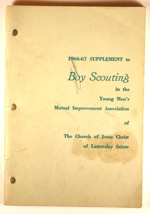1966-67 Suppplement to Boy Scouting LDS
