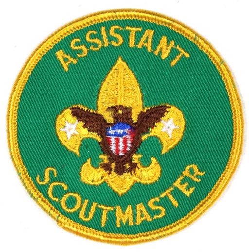 Assistant Scoutmaster Patch 1970s Clear Plastic Back