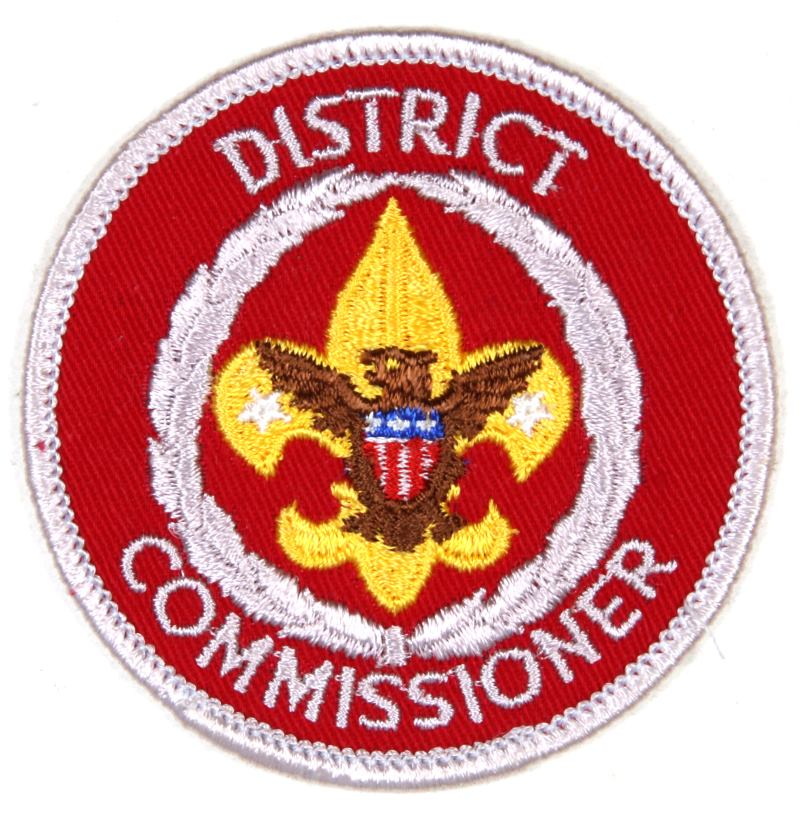 District Commissioner Patch 1970s - 2010 Clear Plastic Back