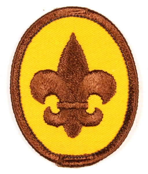 Boy Scout Rank Patch 1970s Clear Plastic Back