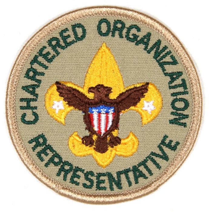 Chartered Organization Representative Patch Clear Plastic Back
