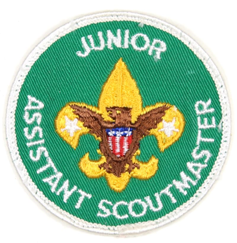 Junior Assistant Scoutmaster Patch 1970s Paper Back