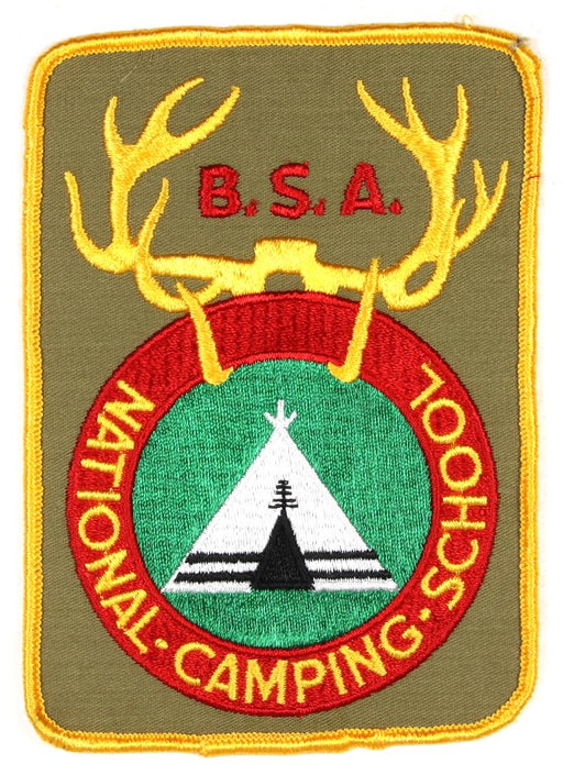 National Camping School Jacket Patch Kahki