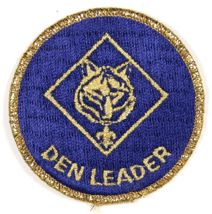 Den Leader Patch 1980s Gold Mylar Border