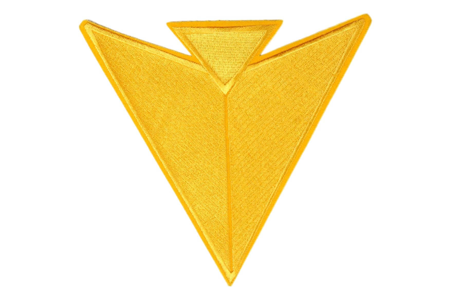 Arrow Point Jacket Patch Gold