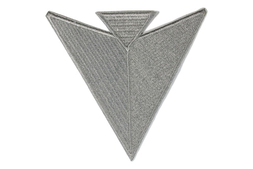 Arrow Point Jacket Patch Silver