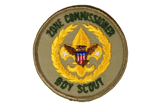 Boy Scout Zone Commissioner Patch