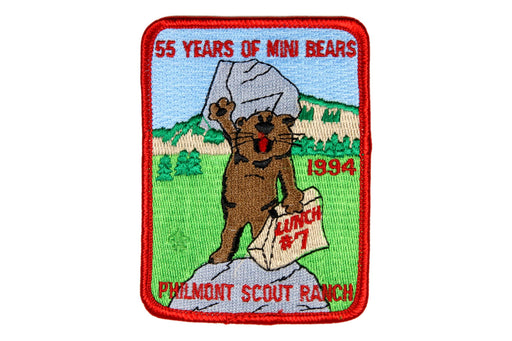 1994 Philmont Mini Bear Adventure Patch