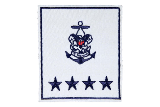 Sea Scout National Professional Staff on White Plastic Back
