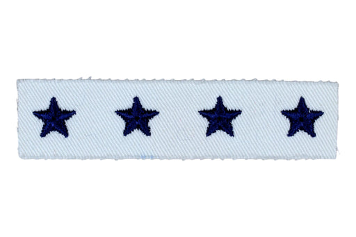 Sea Scout National/Regional Officer Rating on White Plastic Back