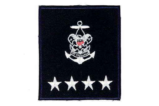 Sea Scout National Professional Staff Patch on Blue Plastic Back