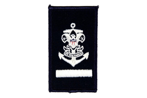 Sea Scout Apprentice Patch on Blue Rolled Edge