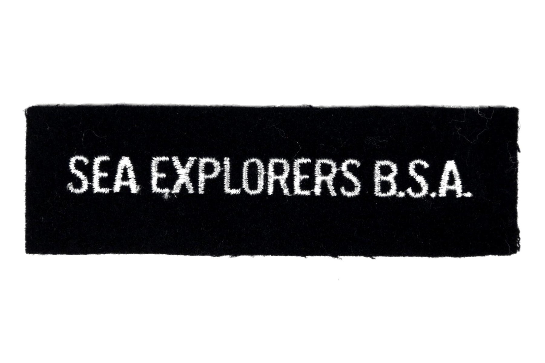 Sea Explorers B.S.A. Shirt Strip on Blue Felt